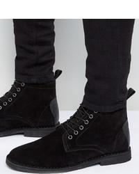 Botas casual de ante negras de Asos