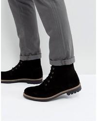 Botas casual de ante negras de Dead Vintage