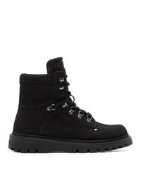Botas casual de ante negras de Moncler