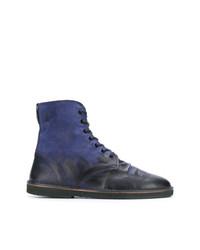 Botas casual de cuero azul marino de Golden Goose Deluxe Brand