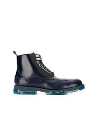 Botas casual de cuero azul marino de Jimmy Choo
