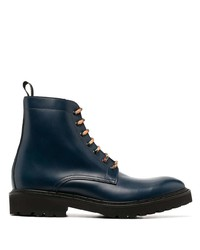 Botas casual de cuero azul marino de Paul Smith