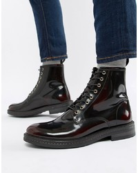 Botas casual de cuero burdeos de WALK LONDON