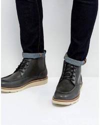 Botas casual de cuero en gris oscuro de Dead Vintage