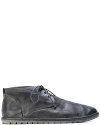 Botas casual de cuero en gris oscuro de Marsèll