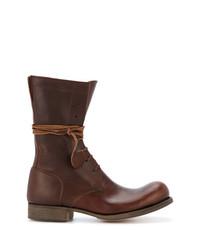 Botas casual de cuero en marrón oscuro de C Diem