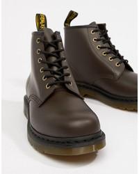 Botas casual de cuero en marrón oscuro de Dr. Martens