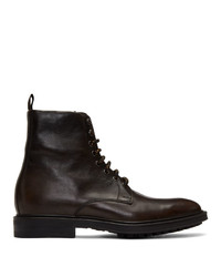 Botas casual de cuero en marrón oscuro de Paul Smith