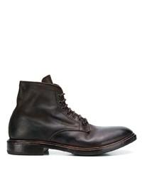 Botas casual de cuero en marrón oscuro de Premiata
