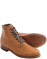 Botas casual de cuero marrón claro