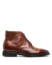 Botas casual de cuero marrónes de Alberto Fasciani