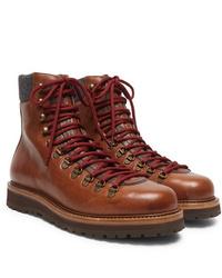 Botas casual de cuero marrónes de Brunello Cucinelli