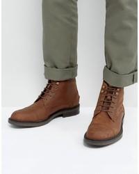 Botas casual de cuero marrónes de Dead Vintage