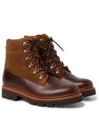 Botas casual de cuero marrónes de Grenson