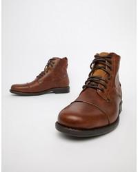 Botas casual de cuero marrónes de Levi's
