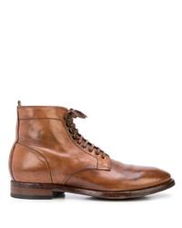 Botas casual de cuero marrónes de Officine Creative
