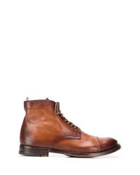 Botas casual de cuero marrónes de Officine Generale