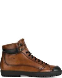 Botas casual de cuero marrónes de Santoni