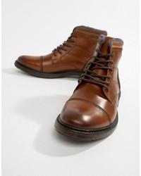 Botas casual de cuero marrónes de Silver Street