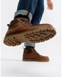 Botas casual de cuero marrónes de Toms