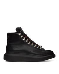 Botas casual de cuero negras de Alexander McQueen