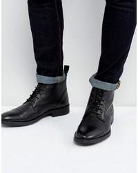 Botas casual de cuero negras de Dead Vintage