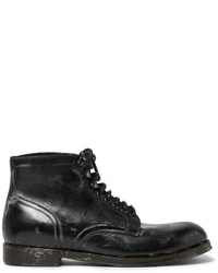 Botas casual de cuero negras de Dolce & Gabbana