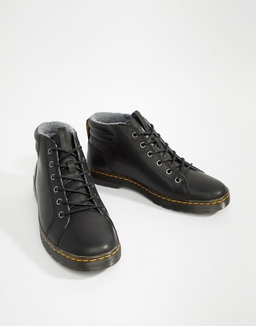 Botas casual de cuero negras de Dr. Martens