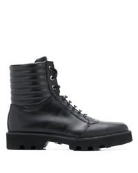 Botas casual de cuero negras de Emporio Armani
