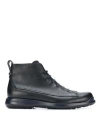 Botas casual de cuero negras de Giorgio Armani