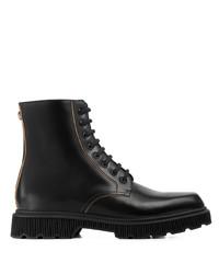 Botas casual de cuero negras de Gucci