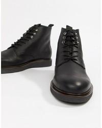 Botas casual de cuero negras de H By Hudson