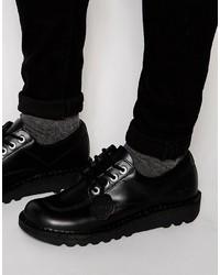 Botas casual de cuero negras de Kickers