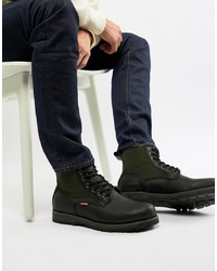 Botas casual de cuero negras de Levi's