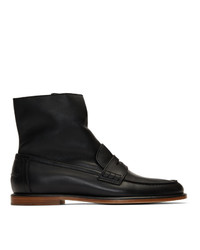 Botas casual de cuero negras de Loewe