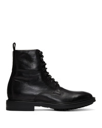 Botas casual de cuero negras de Paul Smith