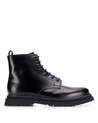 Botas casual de cuero negras de Prada