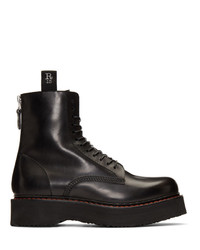 Botas casual de cuero negras de R13