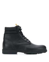 Botas casual de cuero negras de Tommy Jeans