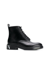 Botas casual de cuero negras de Valentino