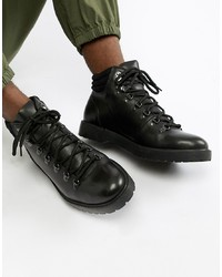 Botas casual de cuero negras de Zign