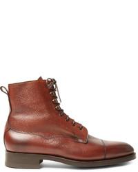 Botas casual de cuero rojas de Edward Green