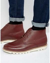 Botas casual de cuero rojas de Kickers