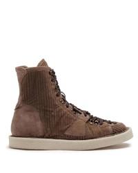 Botas casual de lona marrónes de Dolce & Gabbana