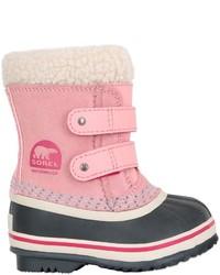 Botas de ante rosadas