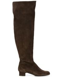 Botas de caña alta de ante en marrón oscuro de P.A.R.O.S.H.
