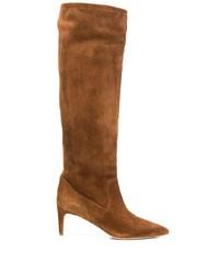 Botas de caña alta de ante marrónes de RED Valentino