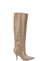 Botas de caña alta de cuero marrón claro de Kendall & Kylie