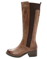 Botas de caña alta de cuero marrónes de Marco Tozzi