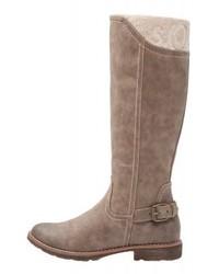 Botas de caña alta de cuero marrónes de s.Oliver